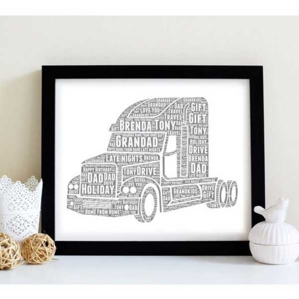 Personalised lorry word art