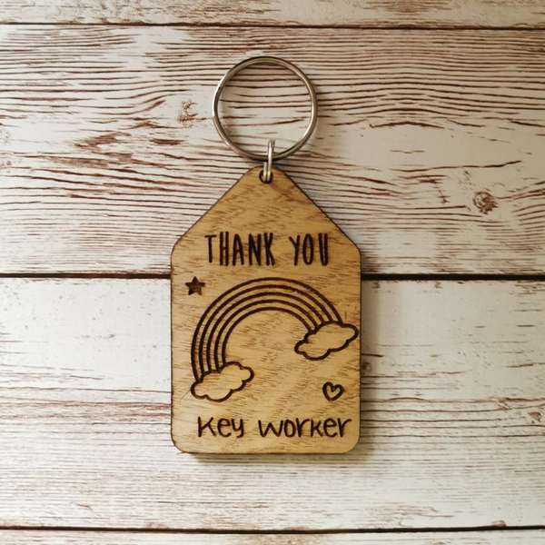 Thank you key worker key ring