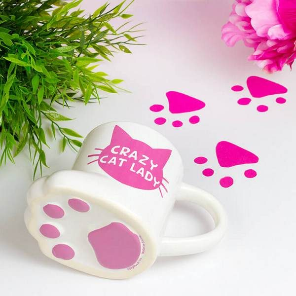 crazy cat lady mug UK