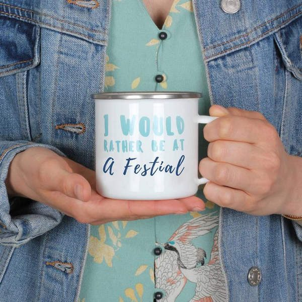 rather be at a festival mug